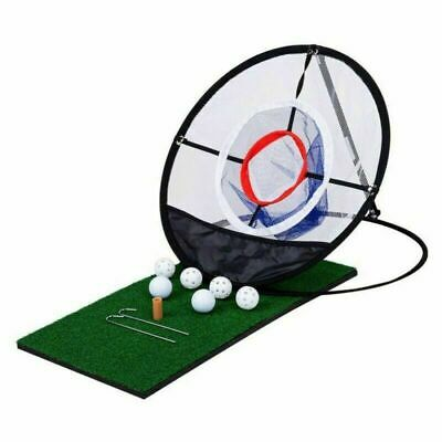 Portable Pop-up Golf Chipping Pitching Practice Training Net Aid Tool Bag Net UK