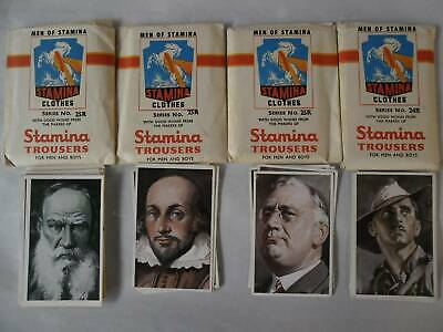 Vintage Collector Cards Sets - Stamina Trousers for Men and Boys