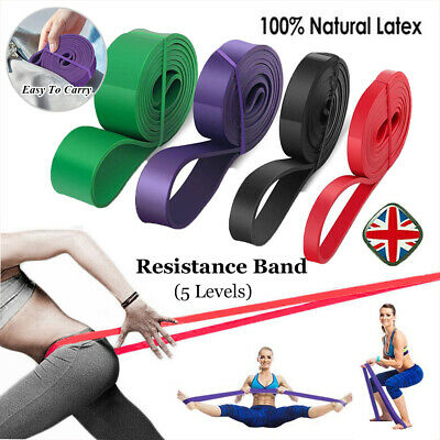 Resistance Bands Power Lifting Exercise Band Fitness Pull Up Band Natural Latex