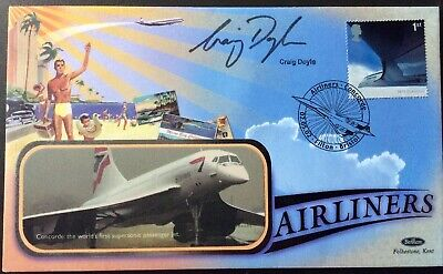CRAIG DOYLE, TV & Radio Sport Presenter, Signed 2.5.2002 Airliners FDC Concorde