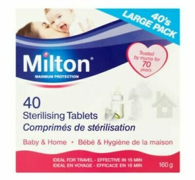 Milton Sterilising Tablets Large 40 Tablet Pack 160g Brand New Fast Dispatch