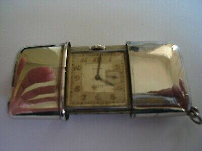 Vintage Movado Ermeto Chronometre 1920's Art Deco Purse/Pocket Watch
