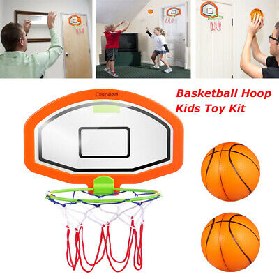 Wall Mount Kids Basketball Back Board Stand & Hoop Set Children Home Toy Gift