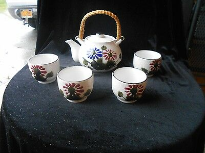Vintage Tea Set ARMBEE SAN FRANCISCO Hand Painted Floral 6PC MADE IN JAPAN