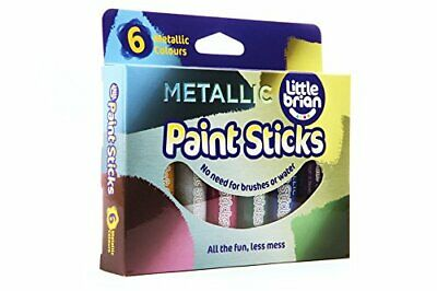 Little Brian Paint Sticks Metallic Colours 6 Pack