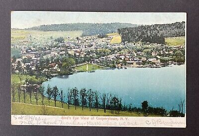 1906 Birds Eye View of Cooperstown, NY Postcard