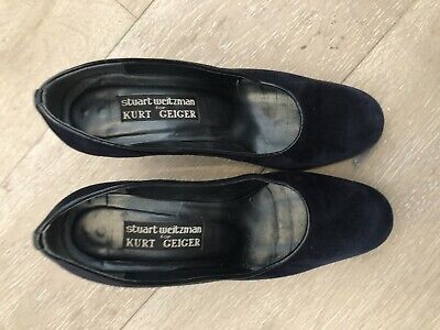 Kurt Geiger Ladies Suede Heeled Shoes - Size 38 - Pre Owned