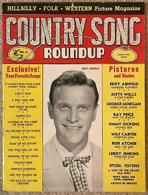 December 1952 COUNTRY SONG ROUNDUP Magazine - Eddy Arnold/Kitty Wells/Ray Price
