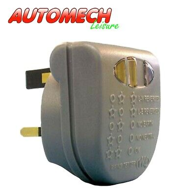 GENUINE W4 Mains Tester (UK Plug Fitting), A Must For Every Caravaner