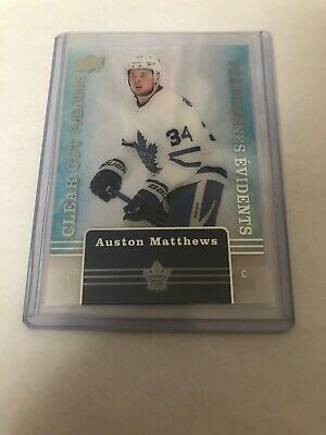 Auston Matthews 2019-20 Upper Deck Tim Hortons Red Parallel Die & Clear Cut Lot