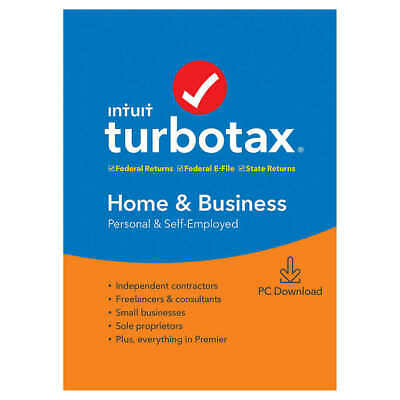 2018 TurboTax Home & Business 2018 Federal +State DOWNLOAD same day delivery.