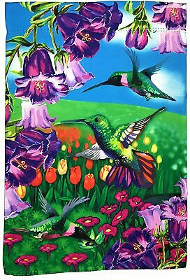 "Hummingbird Garden Flag Yard Decoration; 12"" x 18""; Double Sided"
