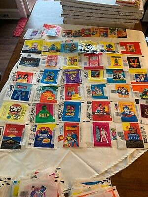 Lot Of 44 Different 70s 80s Non Sport Wrapper Lot Star Wars Happy Days Jaws