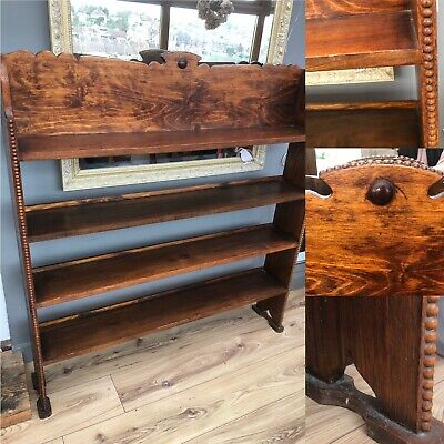Antique Arts And Crafts Style Bookcase, Oak