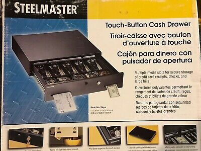 STEELMASTER 225106001 Cash Drawer Box Locking Removable Tray New