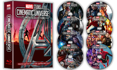 All 23 Marvel Cinematic Universe Movies In 1 Package On 8 Blu-Rays Free Shipping