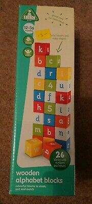 ELC Wooden Alphabet Blocks Early Learning Centre 12-36 months baby wooden blocks