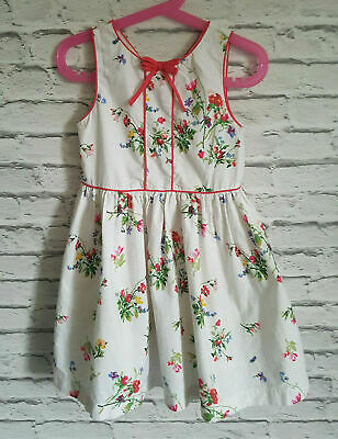 Next Girl Summer Party Dress White Floral Age 5 Years 110cm 100%Cotton