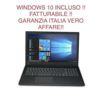 "Computer Portatile Notebook Lenovo 15,6"" Amd A4 4Gb Ddr4 500Gb Webcam Windows 10"