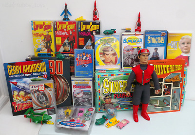 Thunderbirds, Stingray, Captain Scarlet & Other Gerry Anderson Memorabilia Lot