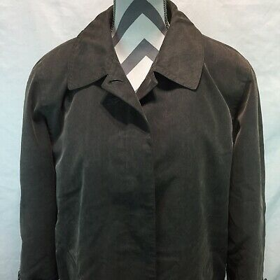 Anne Klein Womens Size 14 Button Down Trench Coat Gray Removable Lining W13
