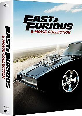 Fast and Furious: 8-Movie Collection (DVD, 2017, 9-Disc Set) New