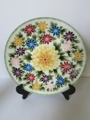 Ando - Cloisonne  Enamelled Art Plate - Made in Japan - STUNNING