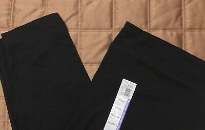 Time & Tru Women's Leggings XXL (20) BLACK  Midrise Pull On FITTED Stretch NEW