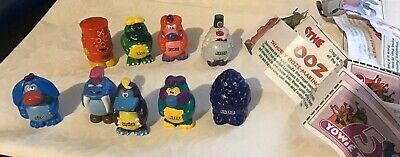 Yowie Tokens series 5, x 9  Crag, Ooz, Nap, Squish, Chomp, Blob, & Ditty all in