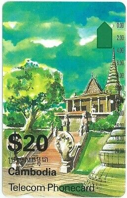 Very Tricky Scarce Prefix 258 $20 Cambodia Telstra Phonecard. Top Condition