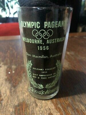 Olympic Games Collectable 1956 Melbourne Vintage Greigs Honey Glass D. MacMillan