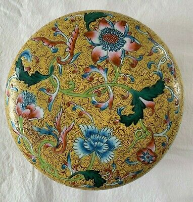 Antique Chinese Trinket Bowl - Handpainted