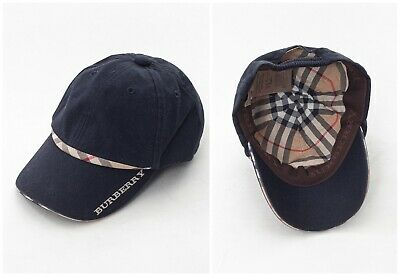 Kids Youth Boys BURBERRY Baseball Cap Hat Navy Blue Size 46