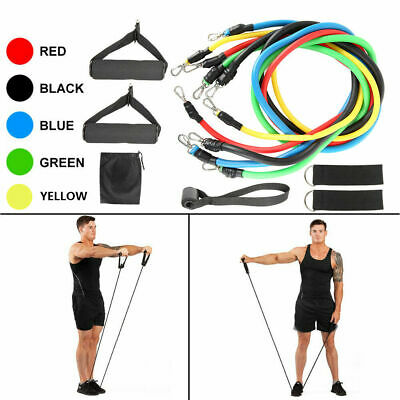FitnessExercise Yoga11Pcs Men Women Resistance Bands Workout Crossfit Tubes