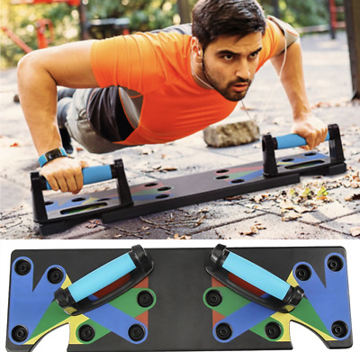 9 in 1 Push Up Rack Training Board abdominal Muscle Trainer Sports Home Fitness