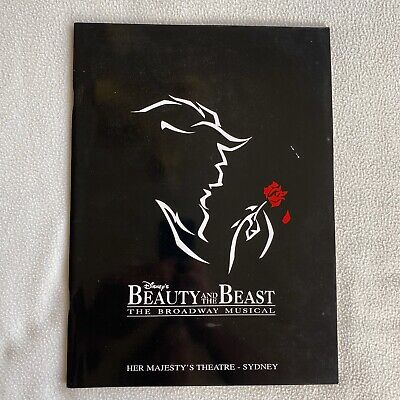 Beauty And The Beast : Program & Ticket 25/10/1996 Musical