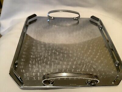 Vintage Ranleigh Silver Serving Tray Drinks Tray Stainless
