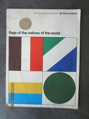 Vintage retro   Flag Of the Nations of the World. Circa.1970's.  National Bank