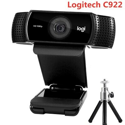 Logitech C922 Pro Streaming HD 1080P Webcam Camera Video Stereo Mic & Tripod AU