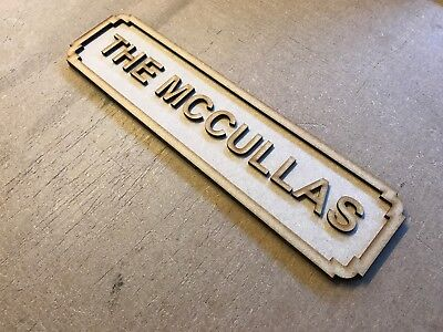 Personalised MDF Hanging Wall Plaque London Street Road Sign Name Quote