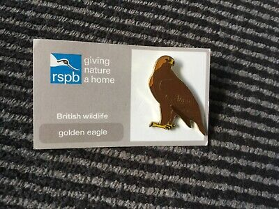 Rspb Pin Badge Golden Eagle New Condition On Original Card Lovely Pin