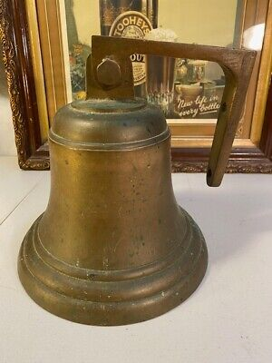 Large Vintage Solid Brass Ship Nautical Home Collector Man Cave Bell 26cm