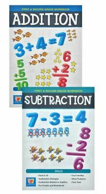Landoll Addition & Subtraction First and Second Grade Mathematics Kids Workbook