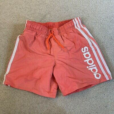 Adidas girls sports fitness shorts in pink/white - age 7/8