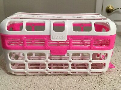 MUNCHKIN Pink & White High Capacity Dishwasher 2 Section Basket Container. NEW.