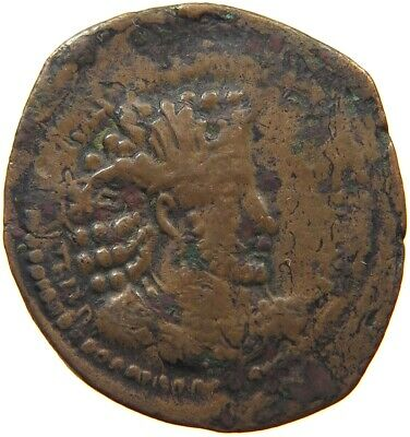 SASSANIAN EMPIRE / HUNNIC TRIBES  AE  21MM #t125 099