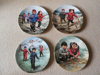 Four, Collectable Plates, Chinese Children's Games, Artist Kee Fung Ng