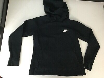 Nike Girls Black Hoodie Jumper Age 13-15 Years High Neck