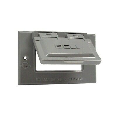 Hubbel Electric Raco Gray Single Gang Weatherproof GFCI Box Covers 5101-0