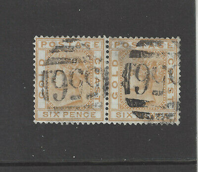 Gold Coast Stamps 1876 Crown Cc 6P Sg 8 Used Pair